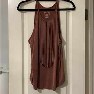 American Eagle Fringe Tank Top